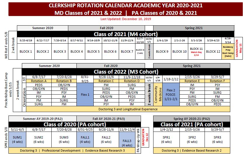 Wright State University Academic Calendar 2021 Current Year Academic Calendar | College of Medicine