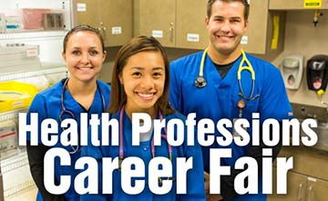 health profession career fair flyer