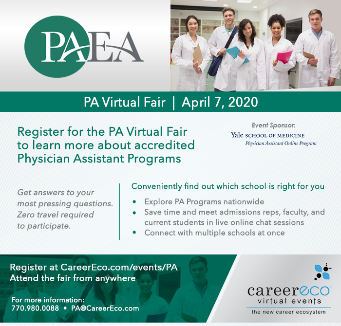 PA Virtual Fair April 7, 2020  Register at CareerEco.com/Events/PA