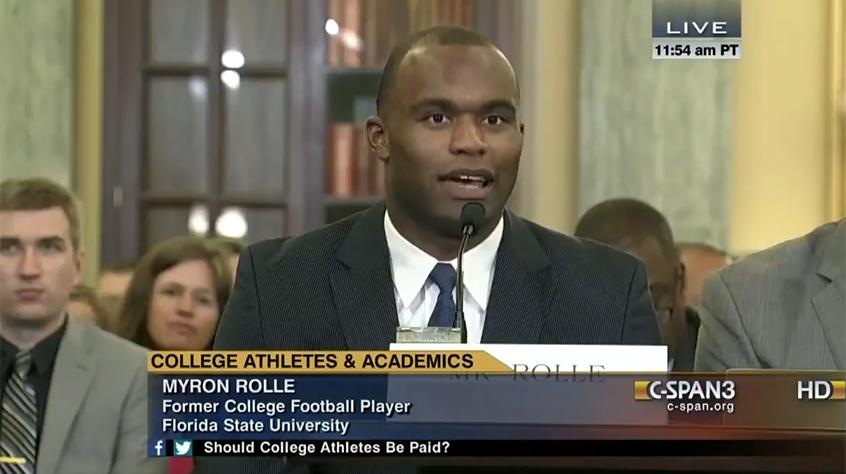 Myron Rolle Testifying Before Congress