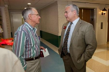 Photographed: Dr. Chris Mulrooney, Chief Operating Officer of FMPP with an FSU SeniorHealth patient.