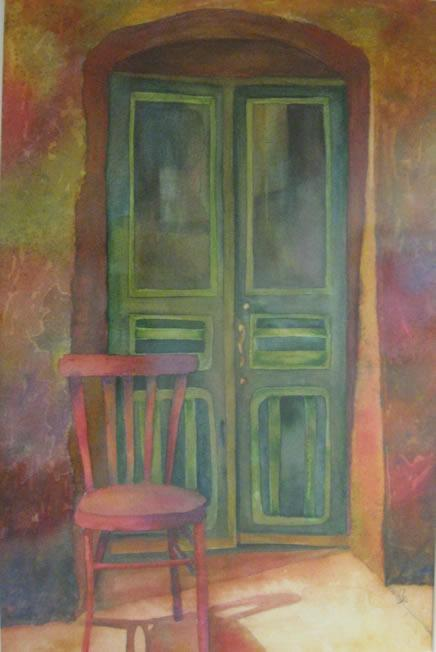 Behind the Green Door by Gale Poteat