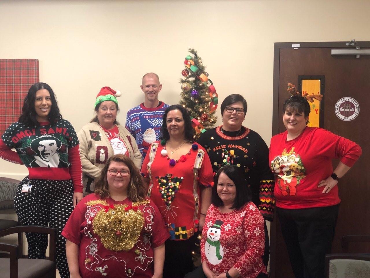 "Clinic Holiday Party 2019 - ""Ugly Sweater Day"""
