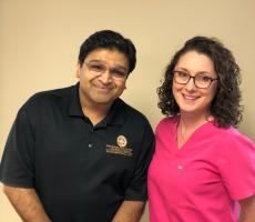 Dr. Sandeep Rahangdale, and Dr. Amy Haddock, Class of 2013