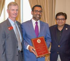 Dr. Rojan Joseph receives the Outstanding Community Faculty Educator award