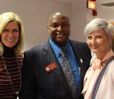Pictured: Cindy Tyler, Dr. Anthony Speights, Mrs. Speights
