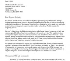 Page 1 of TTSI Letter to the Governor