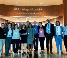 These students and faculty members attended the Chapman Conference