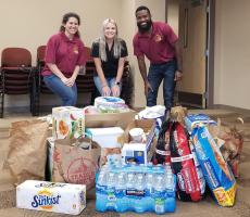 Doctoral students collected donations