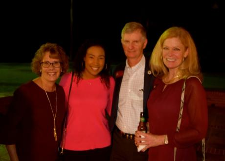 Dr. and Mrs. John Fogarty with Ciara Grayson, and Cindy Tyler