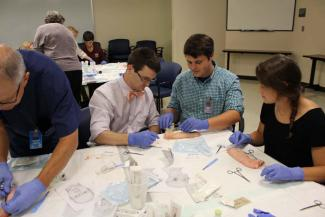 The Biopsy portion of this course had students doing a punch, excision, shave, ellipse, laceration repair, incision and drainage
