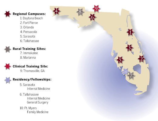 Our Campuses At A Glance College Of Medicine